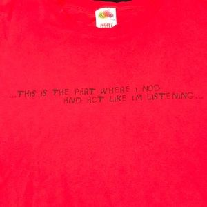 Fruit of loom red t shirt